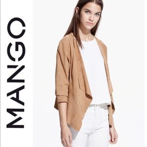 ✨HOST PICK✨ MNG SUIT Vegan Suede Waterfall Jacket